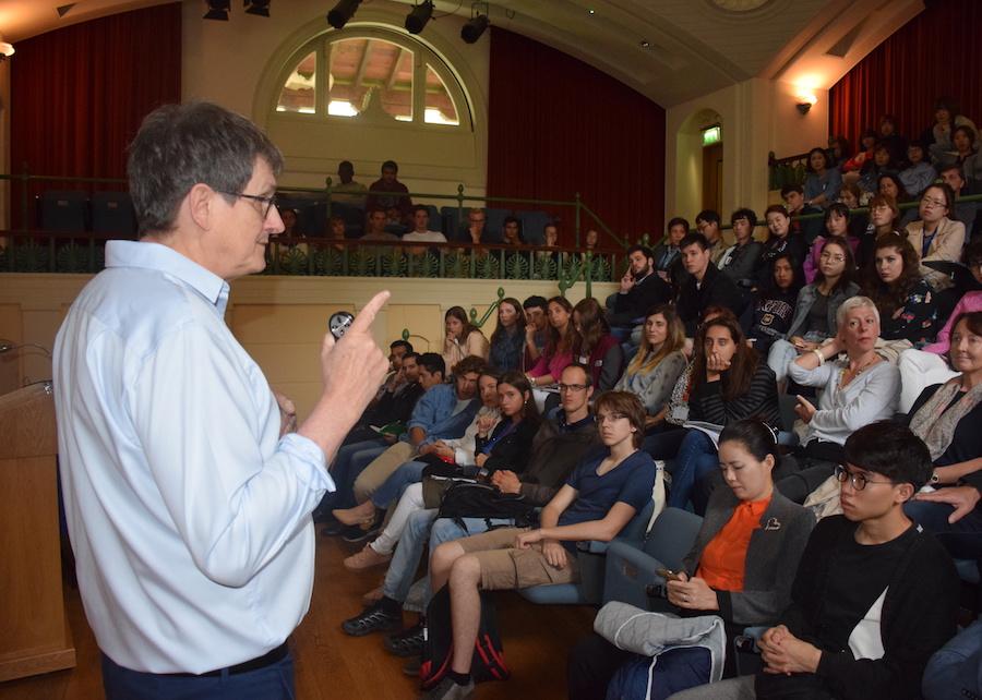 Alan Rusbridger gave a fascinating talk